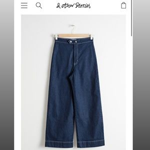 & other stories High Waisted Flared Jeans